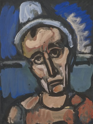 qui ne se grime pas? ['who does not put on make-up?'] by georges rouault